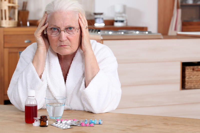 Lady having trouble with medication management